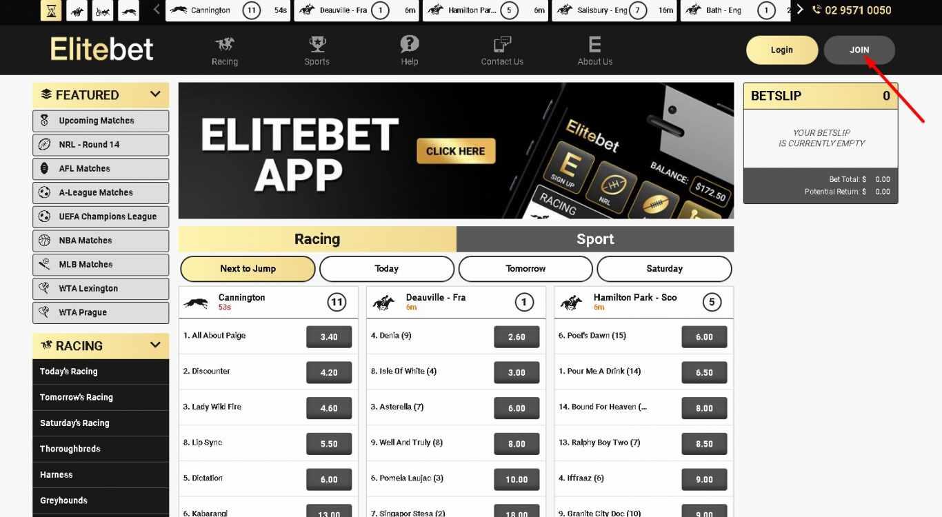 Elitebet join