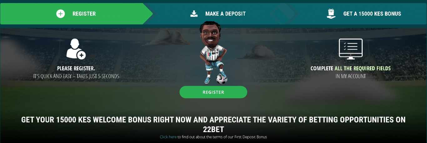 22Bet first deposit bonus