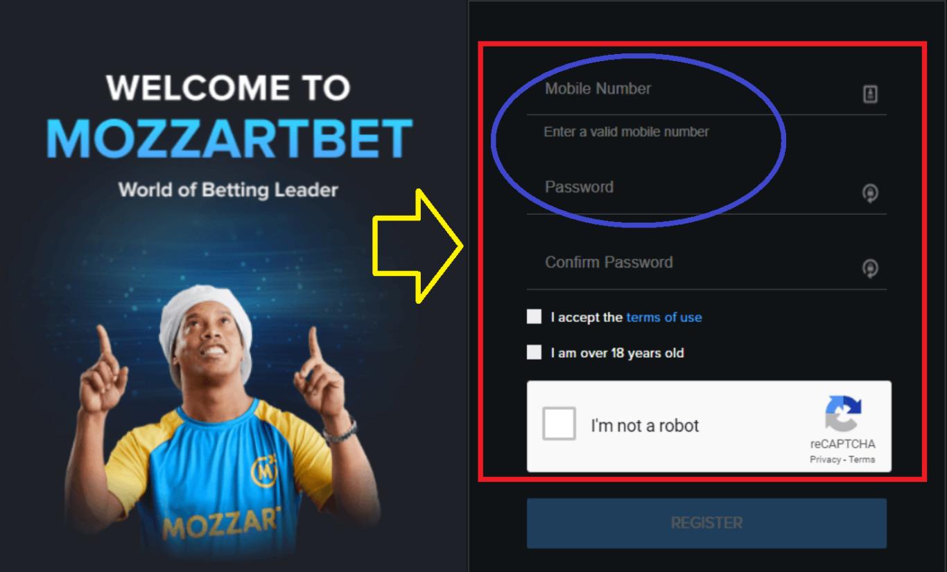 Registration in Mozzart Bet Kenya